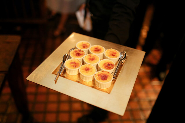 ginger crèmes brûlées | A Gluten-Free Gala | Marcey Brownstein Catering & Events